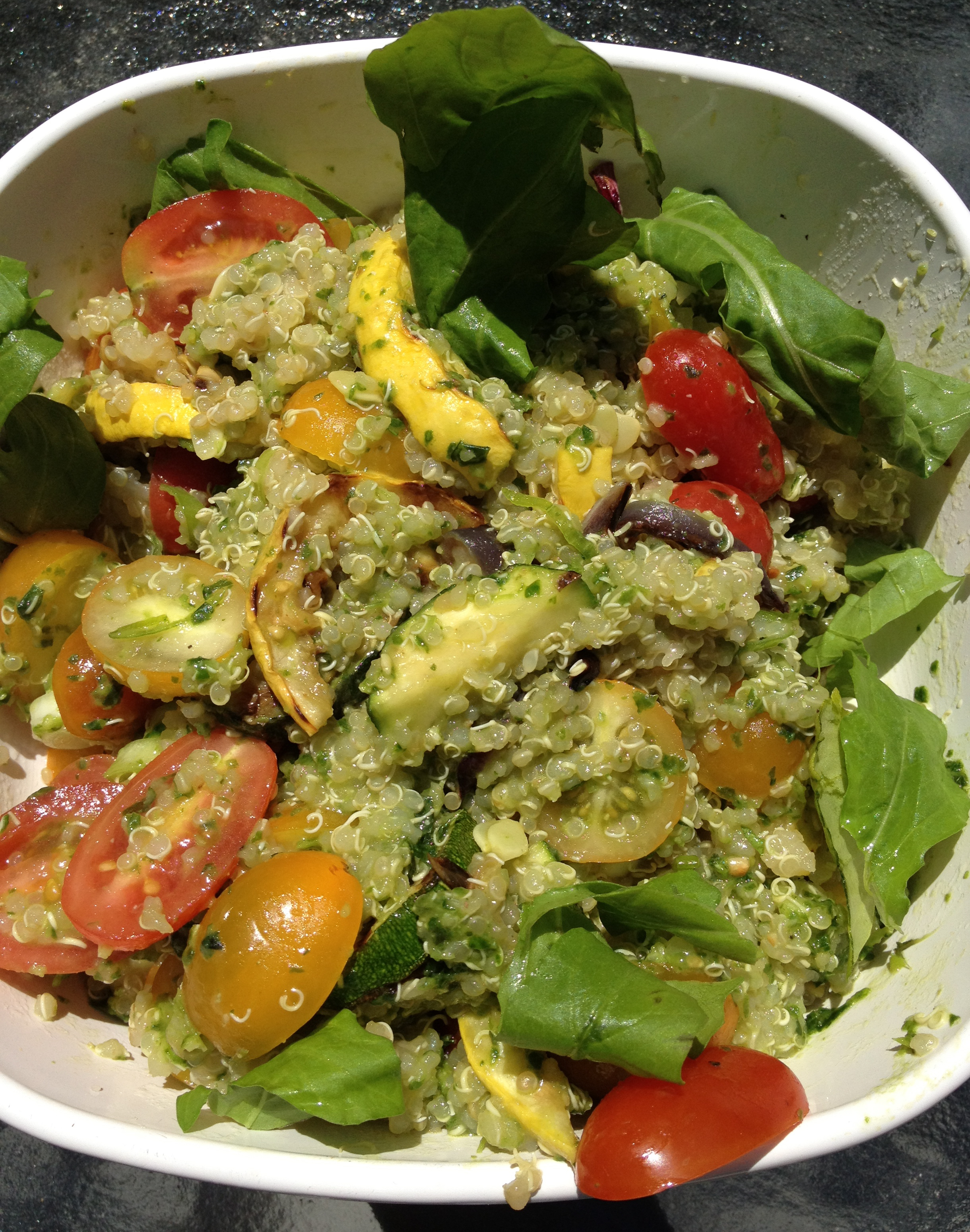 Pesto Quinoa with Grilled Summer Squash, Cherry Tomatoes ...