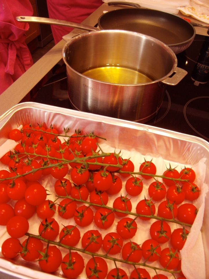 We offset the dish with a light cherry tomato accompaniment