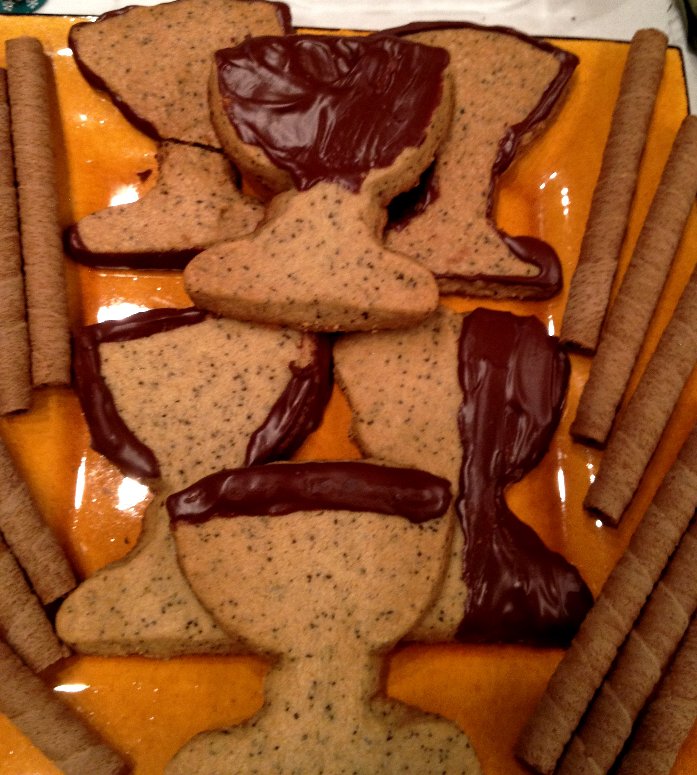 Chocolate-Dipped Espresso Shortbread Cookies Recipes ...