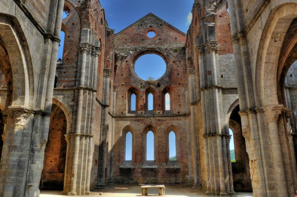 The Abbey of San Galgano trek earth.com
