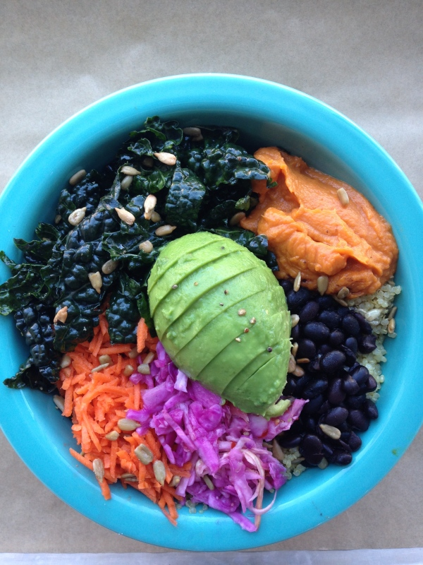 The giant quinoa bowl at Green Heart Foods
