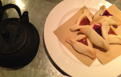 hamentaschen at delfina restaurant