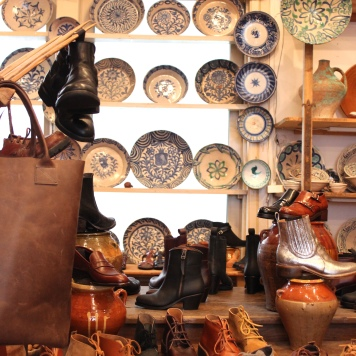 Spanish ceramics and Dutch made leather shoes at Terra