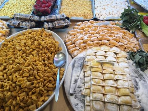 Fresh pasta at Gargani