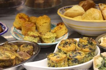 Assorted savory goodies at La Manu in Pasta