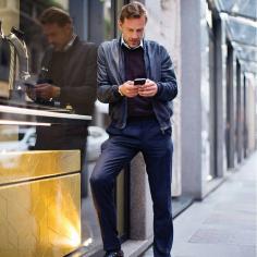 Guglielmo Miani outside of the Larusmiani boutique. Photo by Scott Schuman