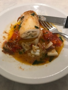 Il famoso calamaro at Le Zie: stuffed in the traditional Leccese style
