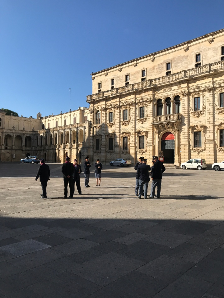 Sunday morning in the piazza