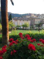 Looking towards the village at La Residencia