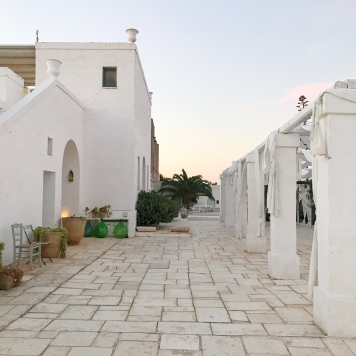 Evening glow at Masseria Potenti