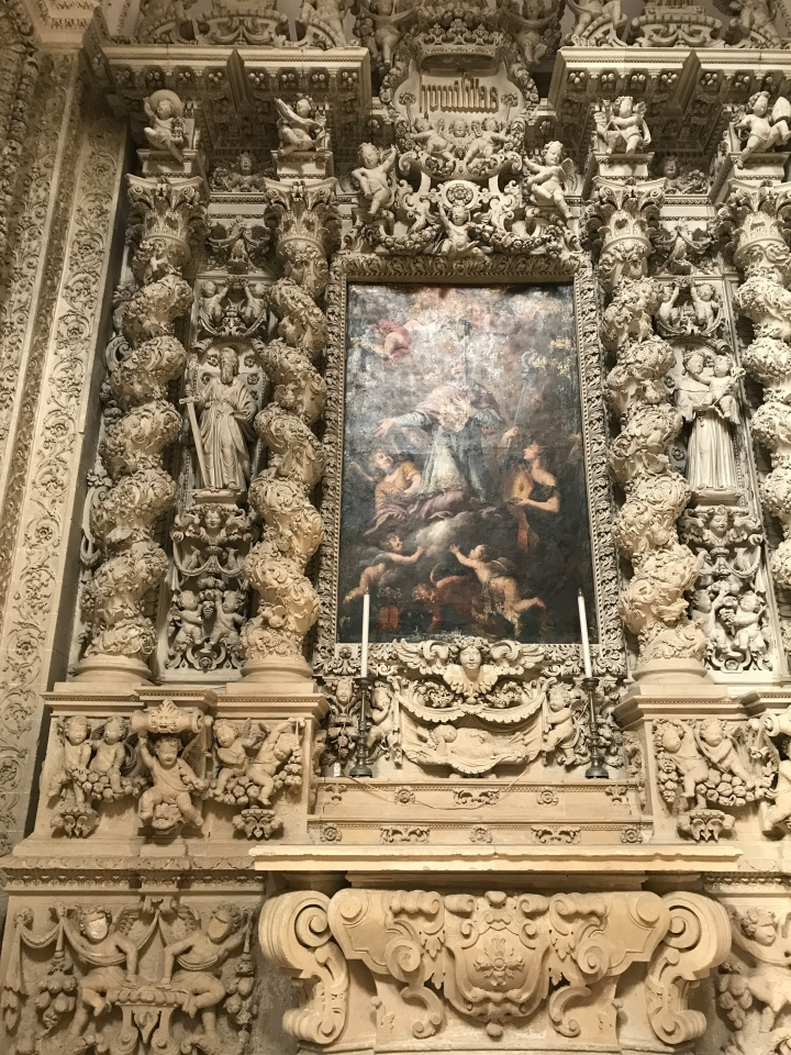 Incredible sculpture work in Lecce's duomo