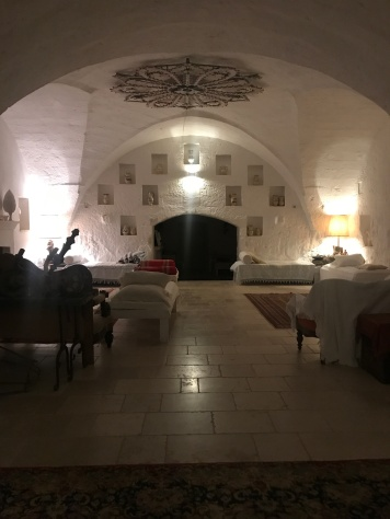 Evening inside the Masseria