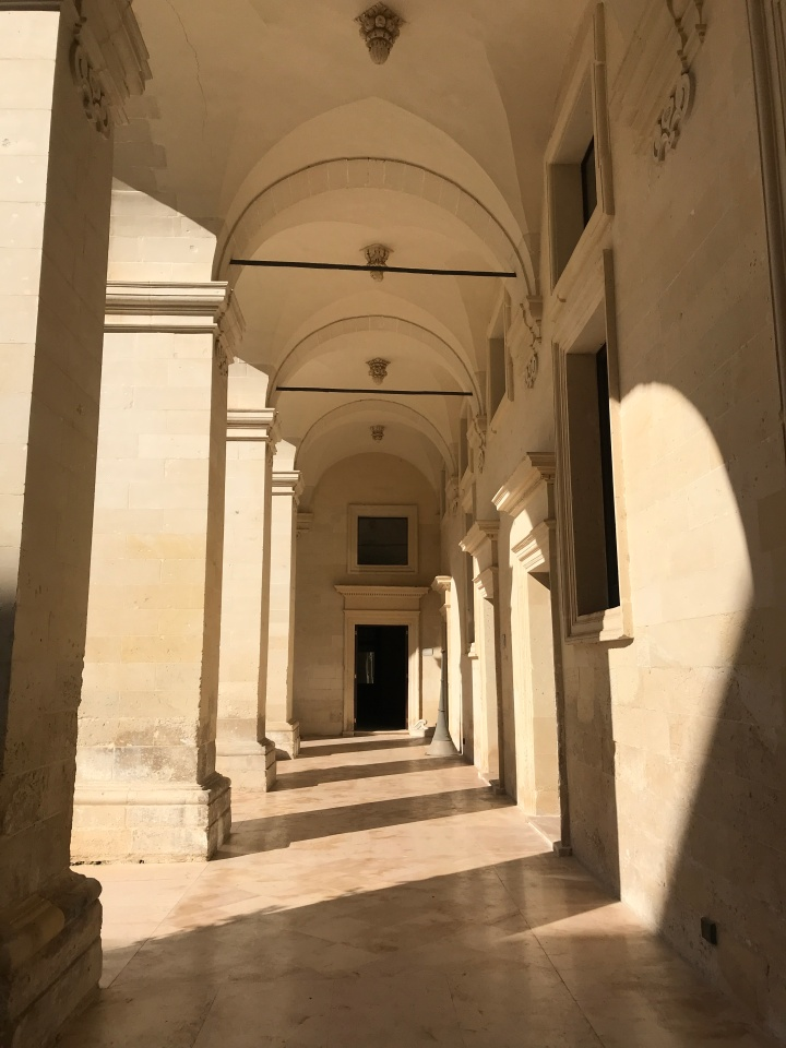 Mid-morning shadows at the Museo Diocesano