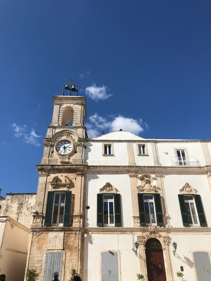 The gorgeous piazza in Martina Franca