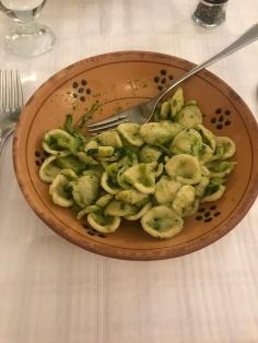 One of the typical Leccese dishes: orecchiette alle cime di rapa