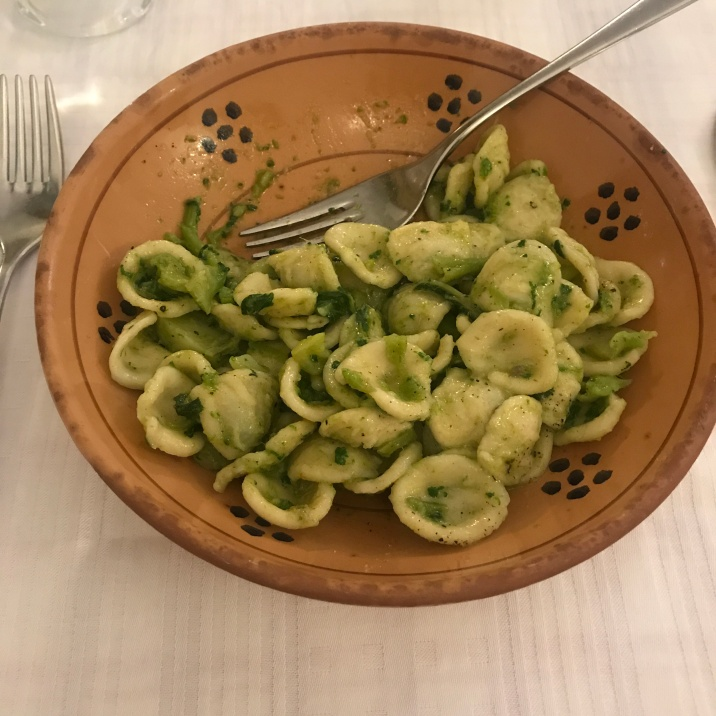 One of the typical Leccese dishes: orecchiette alle cime di rapa